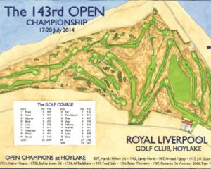 2014 Open Championship - Royal Liverpool Routing Map