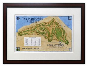 2014 Open Championship Routing Map - Royal Liverpool (Hoylake)
