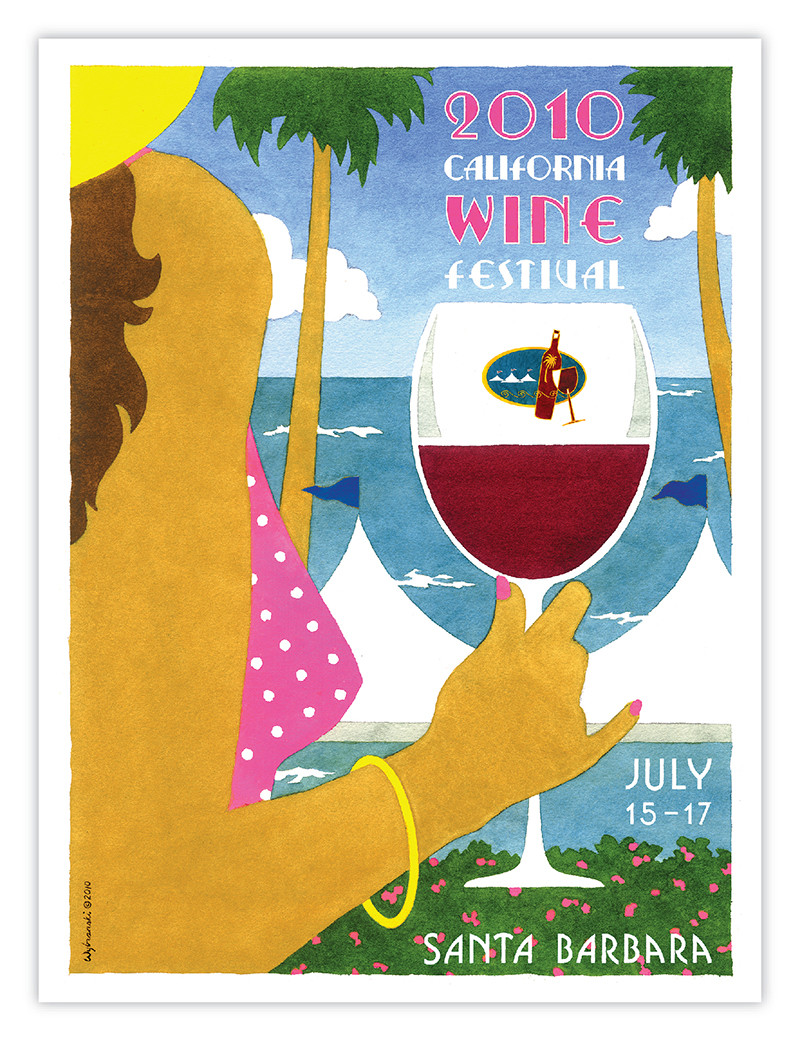 Signed 2010 California Wine Festival Santa Barbara Poster