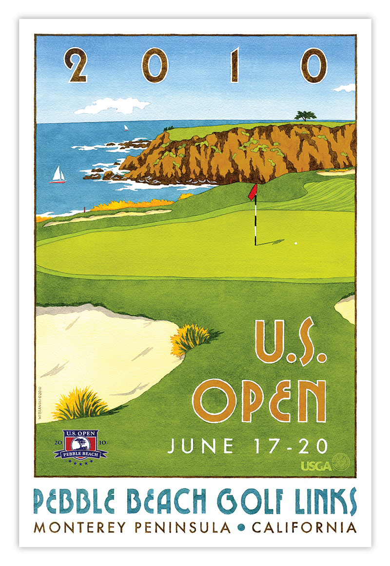 us open pebble beach poster