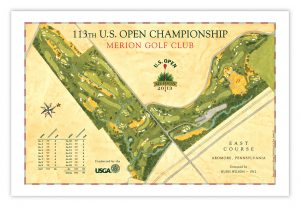 2013 U.S. Open - Merion Course Map