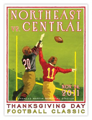 2011 Northeast vs. Central Football Poster