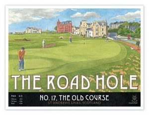 The Road Hole Poster