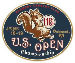 2016 U.S. Open Embossed Pub Sign - Oakmont Country Club