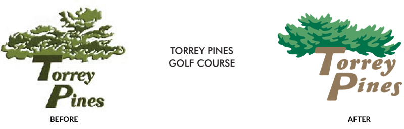 Logo Re-design Example - Torrey Pines Golf Course