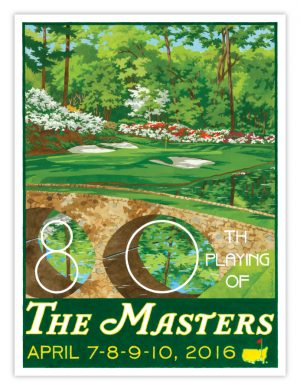 2016 MASTERS_POSTER_HOLE 12_DROP SHADOW-900 x 692