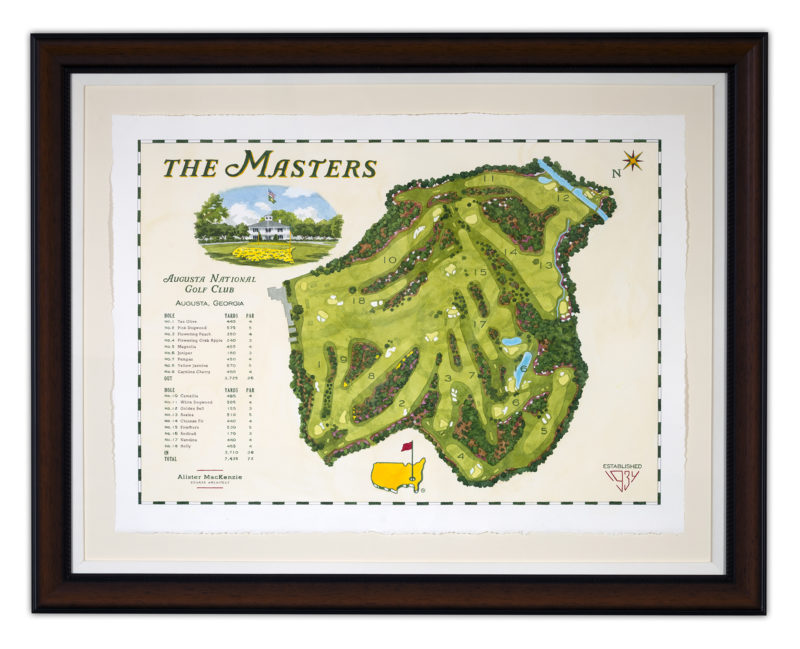 masters  course map  pen  u0026 ink drawing  lee wybranski
