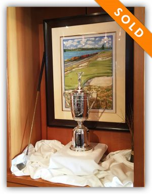 2015 US Open Framed Art and Trophy