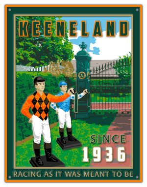 KEENELAND_PUB SIGN_EMBOSSED EFFECT-DROP SHADOW